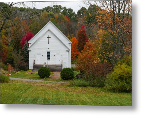 Old New England Church Metal Print