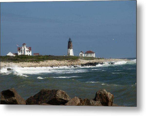 Old New England Lighthouse Metal Print