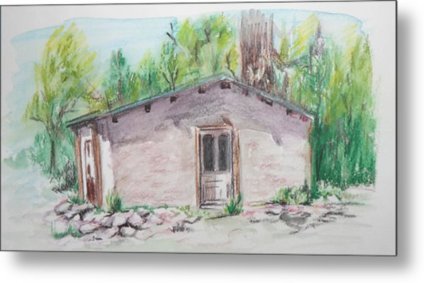 Old New Mexico House Metal Print
