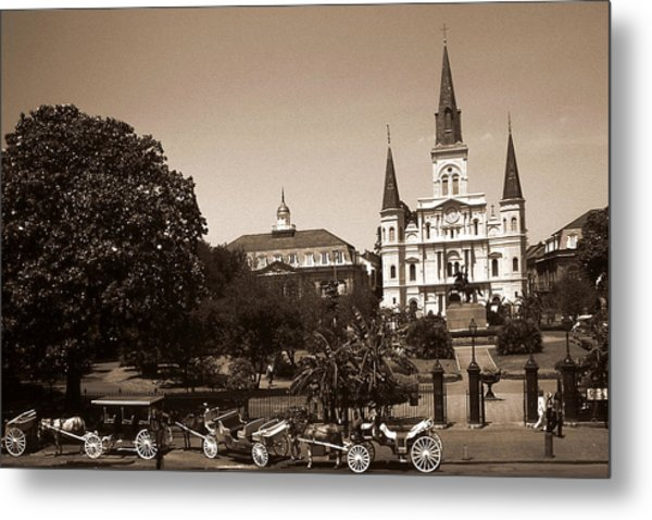 Old New Orleans Photo - Saint Louis Cathedral Metal Print