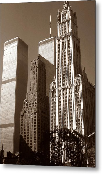 Old New York Photo - Woolworth Building Metal Print