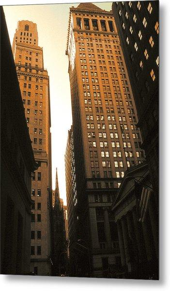 Old New York Wall Street Metal Print