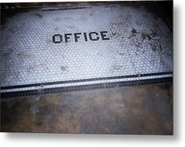 Old Office- Urban Photography By Linda Woods Metal Print