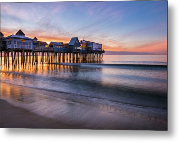 Metal Print featuring the photograph Old Orchard Beach by Expressive Landscapes Fine Art Photography by Thom