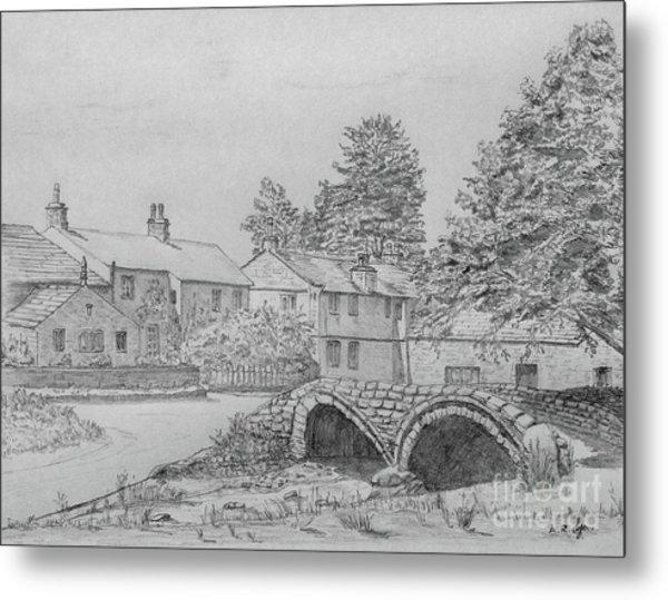 Old Packhorse Bridge Wycoller Metal Print