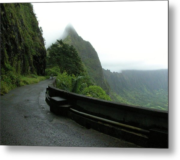 Metal Print featuring the photograph Old Pali Road, Oahu, Hawaii by Mark Czerniec