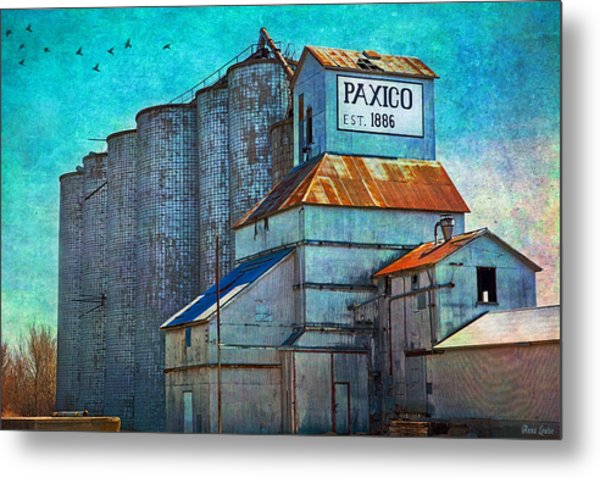 Old Paxico Kansas Grain Elevator Metal Print
