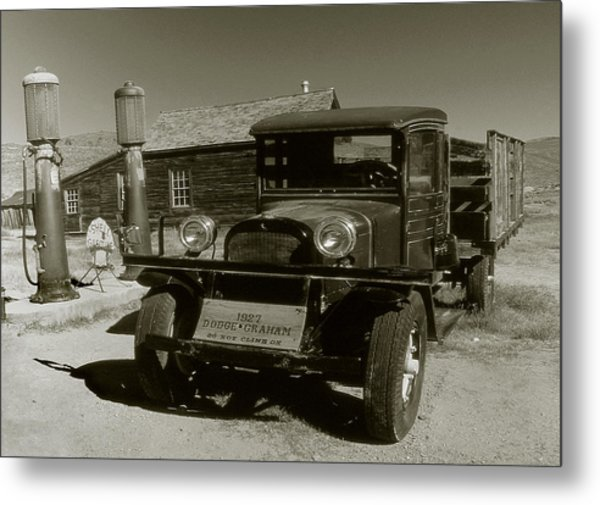 Old Pickup Truck 1927 - Vintage Photo Art Print Metal Print