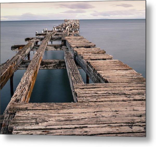Old Pier In Punta Arenas Metal Print