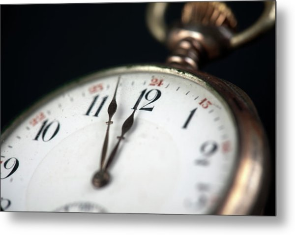 Old Pocketwatch Metal Print