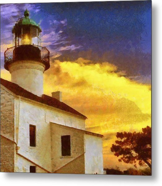 Old Point Loma Lighthouse Painting by Russ Harris