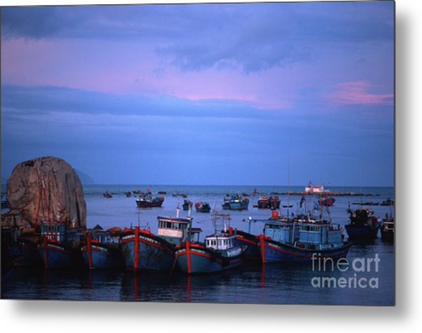 Old Port Of Nha Trang In Vietnam Metal Print