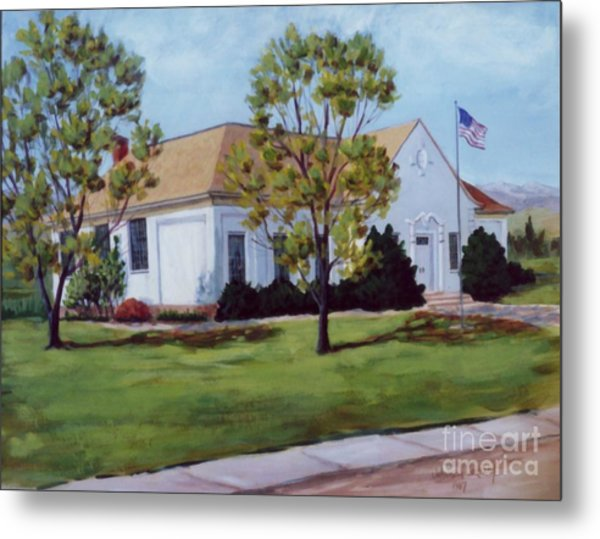 Old Porterville White Church Metal Print