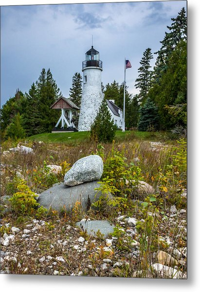 Old Presque Isle Lighthouse Metal Print