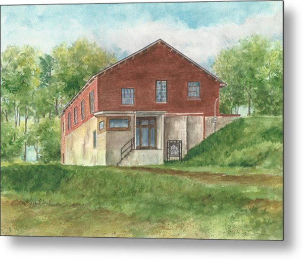 Old Pump House At The Mill Metal Print