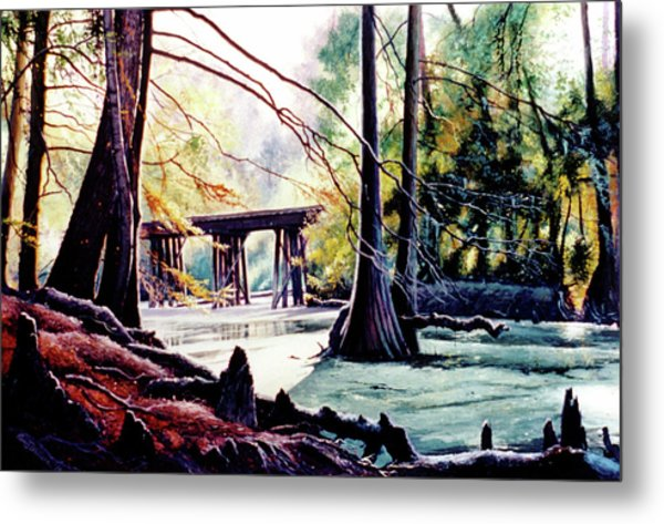 Old Railroad Bridge Metal Print