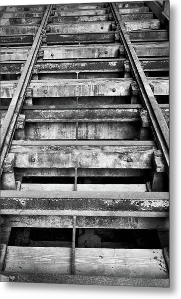 Old Rails At Mill City Museum Metal Print
