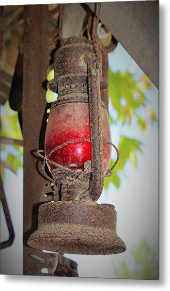 Old Red Lamp Metal Print