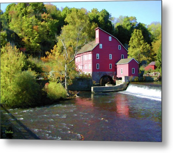 Old Red Mill Metal Print by Doug Vance