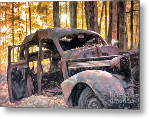 Old Relic In The Woods Metal Print