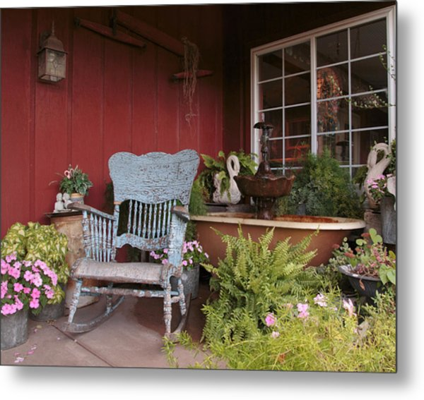 Metal Print featuring the photograph Old Rockin' Chair by Susan Rissi Tregoning
