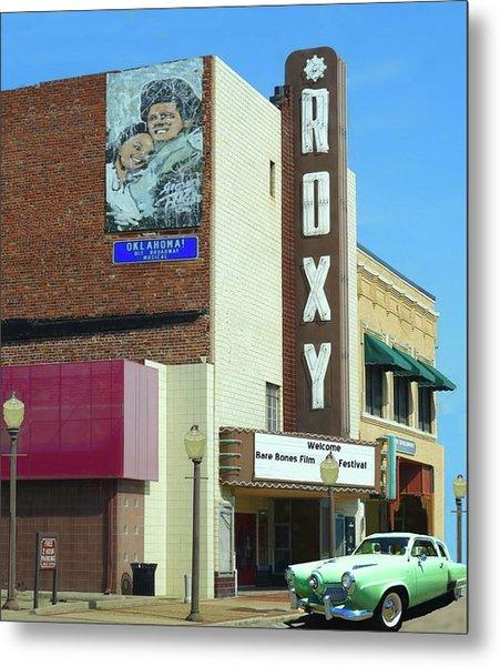 Old Roxy Theater In Muskogee, Oklahoma Metal Print