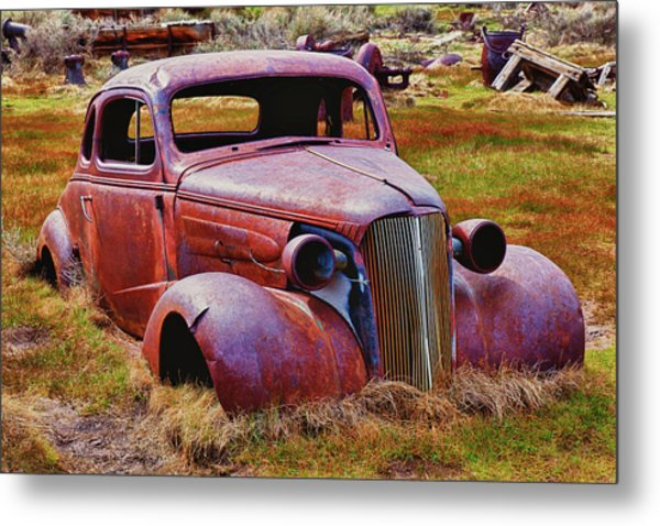 Old Rusty Car Bodie Ghost Town Metal Print