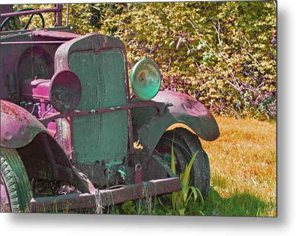 Old Rusty Truck C1002 Metal Print by Mary Gaines