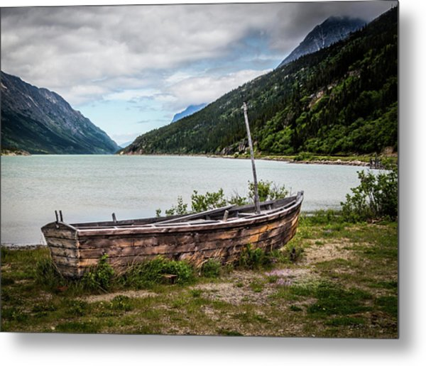 Old Sailboat Metal Print