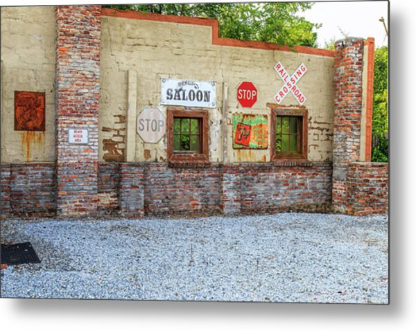Metal Print featuring the photograph Old Saloon Wall by Doug Camara