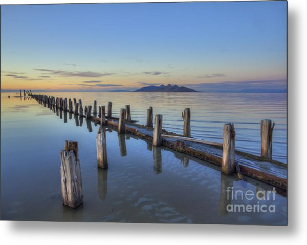 Old Saltair Infrastructure Metal Print