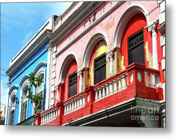 Old San Juan Balcony Metal Print by John Rizzuto