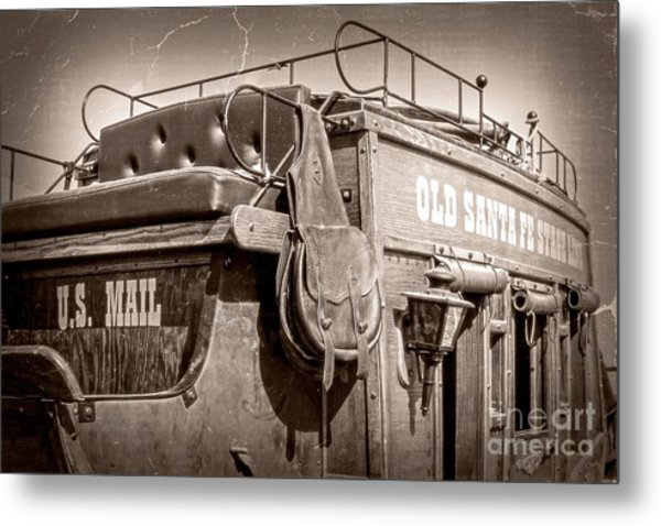 Old Santa Fe Stagecoach Metal Print
