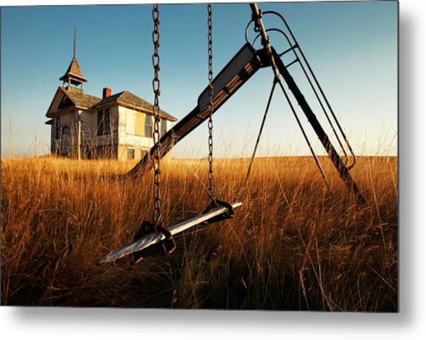 Old Savoy Schoolhouse Metal Print
