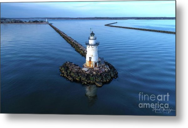 Old Saybrook Outer Lighthouse Metal Print