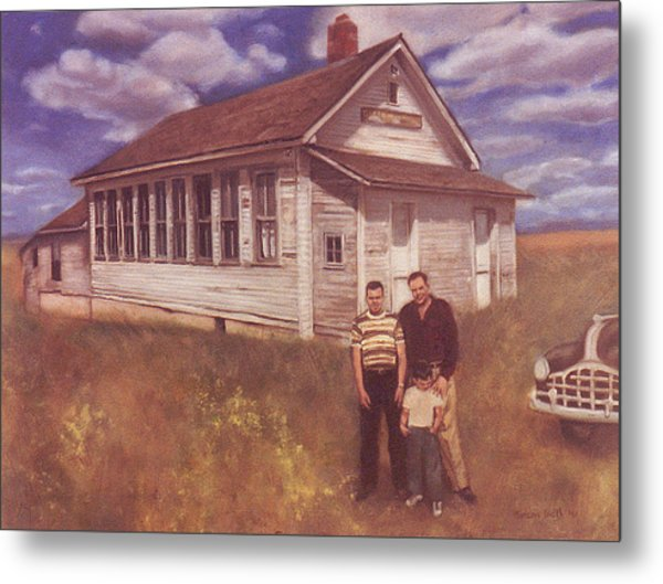 Old Schoolhouse Revisited Metal Print