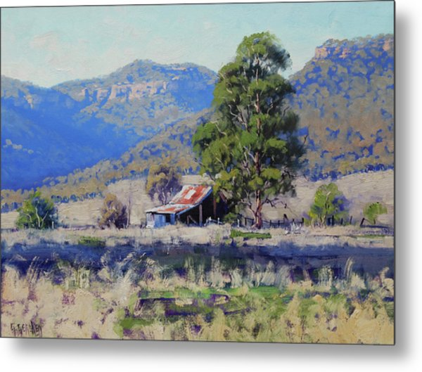 Old Shed Hartley Metal Print