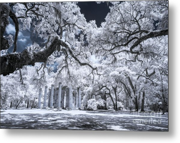 Old Sheldon Church In Infrared Metal Print