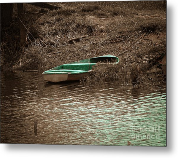 Old Skiff Metal Print