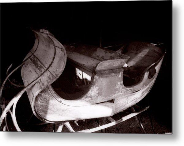 Old Sled  Metal Print by George Oze
