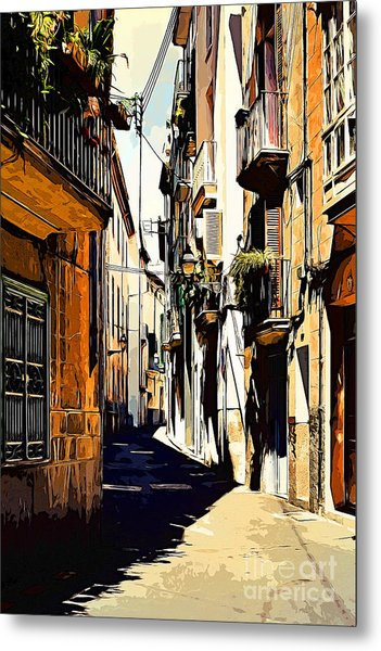 Old Spanish Street Metal Print
