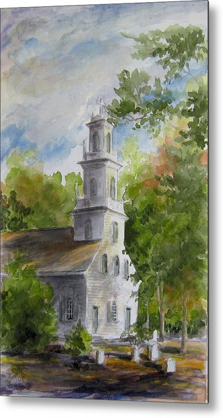 Old St. David's In The Fall Metal Print