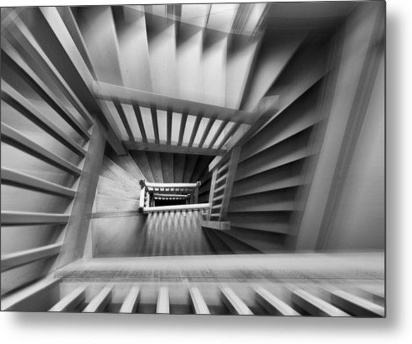 Old Staircase Metal Print by Henk Van Maastricht
