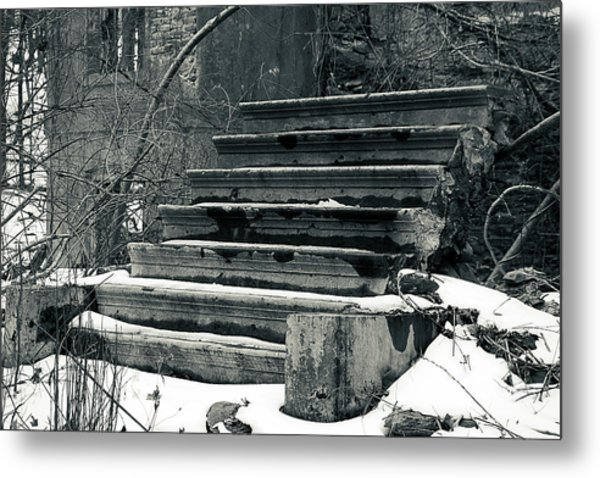 Old Stairs To Nowhere Metal Print