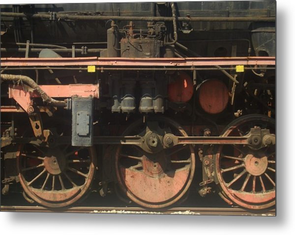 Old  Steam Train ...france Metal Print