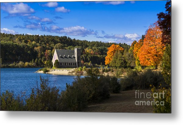 Old Stone Church. West Boylston, Massachusetts. Metal Print