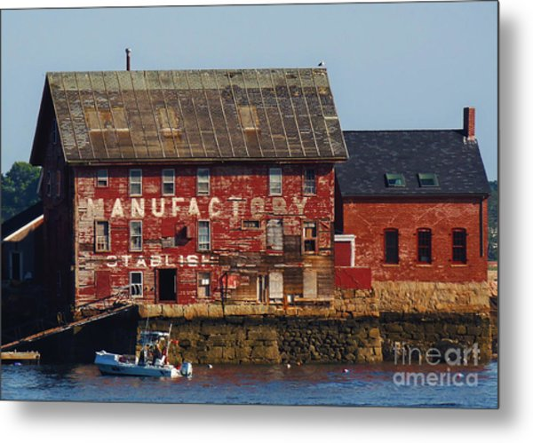 Metal Print featuring the photograph Old Tarr And Wonson Paint Factory. Gloucester, Massachusetts by Lita Kelley