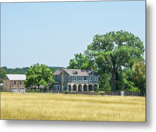Old Texas Farm House Metal Print