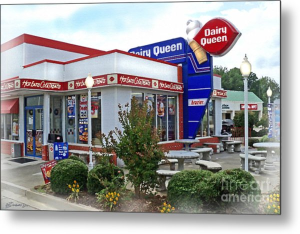 Old Timey Dairy Queen Metal Print