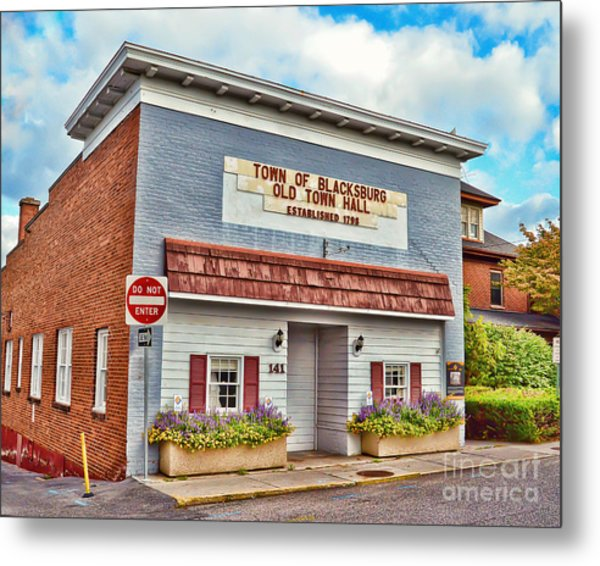 Old Town Hall Blacksburg Virginia Est 1798 Metal Print